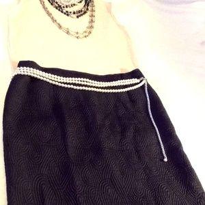 vintage 60s swirled pencil skirt